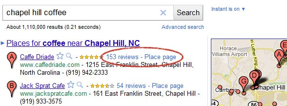 Example Local Search Results