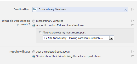 Setting up a Page Post Like Story