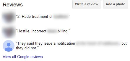 Bad Reviews Example
