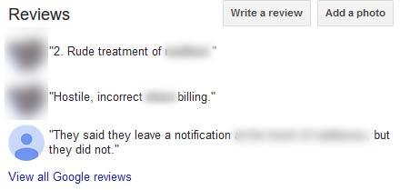 Bad Reviews Example